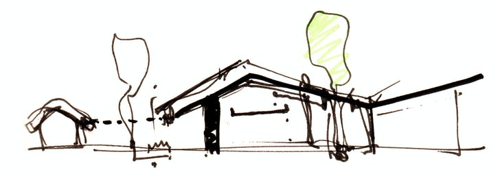 Sectional concept sketch of Joseph Walsh Studio. Credit: IF_DO