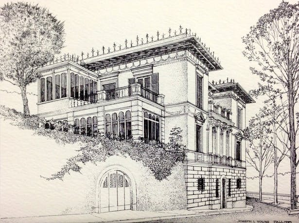 """Clemson's Charles E. Daniel Center for Building Research and Urban Study, """"The Villa,"""" by Joe Young, 1993."""