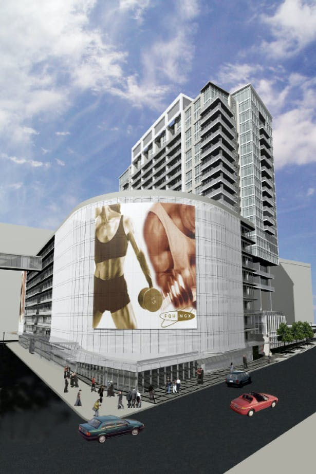 rendering for hotel parking