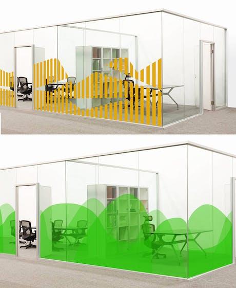 window foil design for office in Stockholm