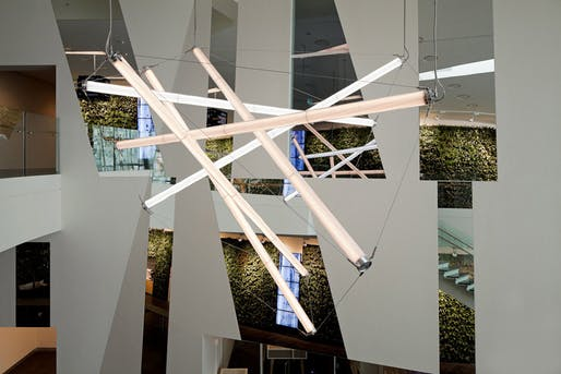 Interior view of the new Sky Bella Hotel lobby, designed by 3XN (Photo: Adam Mørk)