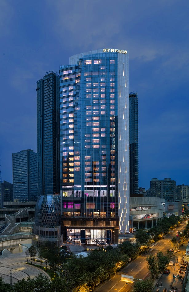 Evergrande Huazhi Plaza, Chengdu, China, by Aedas - The St. Regis Chengdu