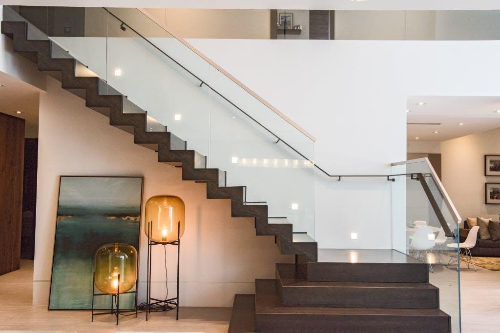 Contemporary Stair Renovation - Grande Foyer in Aventura Home ...