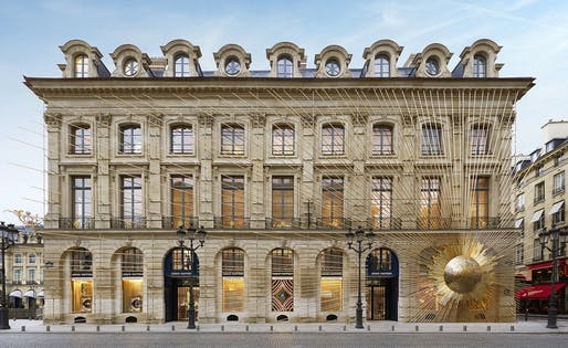 Façade of the new Louis Vuitton store on Place Vendôme. © Louis Vuitton. Photography: Stéphane Muratet