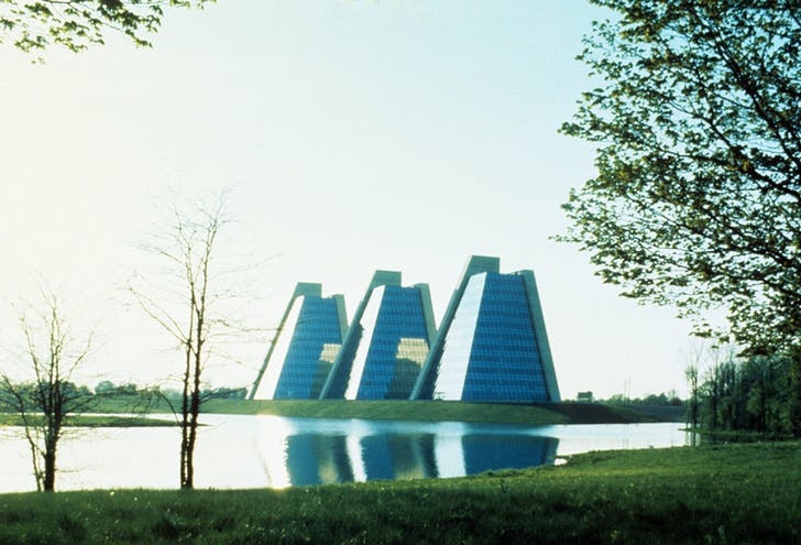 The Pyramids in College Park, Indianapolis. Courtesy of Kevin Roche John Dinkeloo and Associates LLC