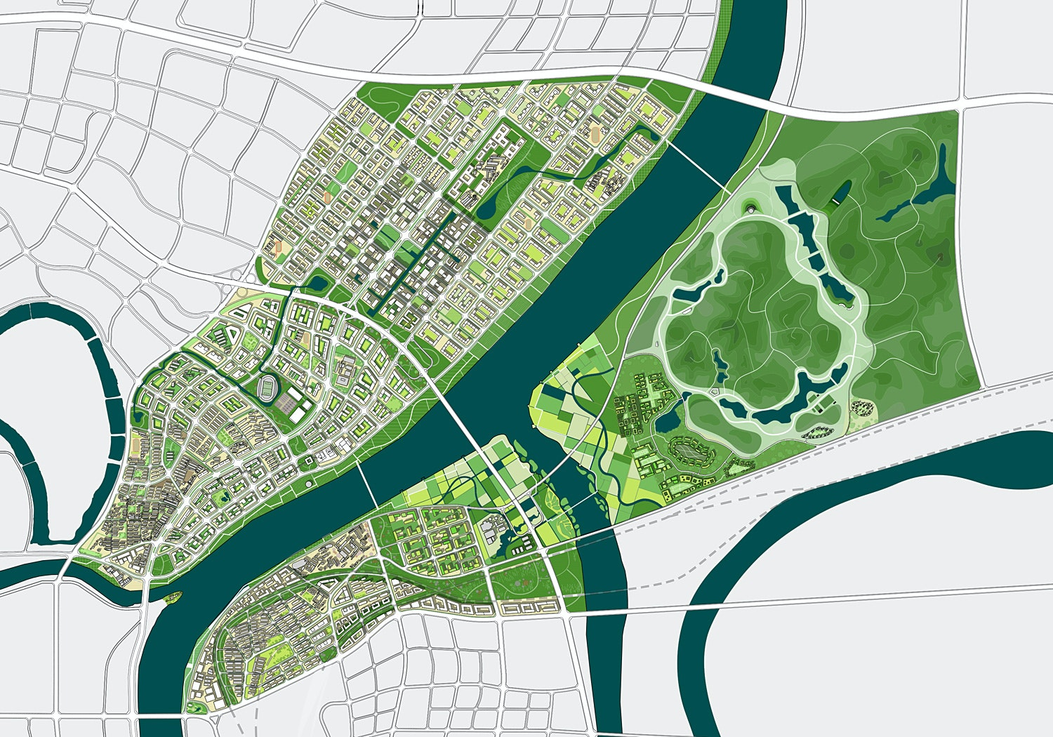ADEPT's Green Loops City Wins Massive Planning Competition in Hengyang, China