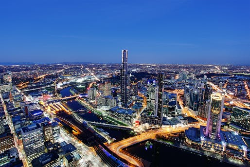 Melbourne by night. Image: Wikimedia Commons
