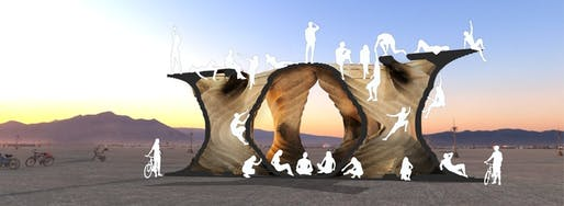 Joshua Potter's proposed Burning Man installation 'PURSUIT.' Image: Joshua Potter