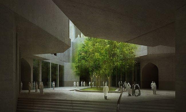 Interior foyer (Image: Matteo Cainer Architects)