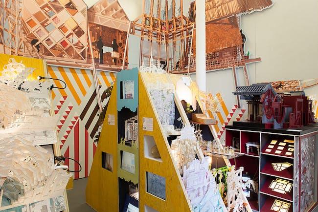 Unit 22 from the Bartlett Summer Show 2013 exhibition. Photo: Virgilio Ferreira. Image via Bartlett Architecture UCL flickr.