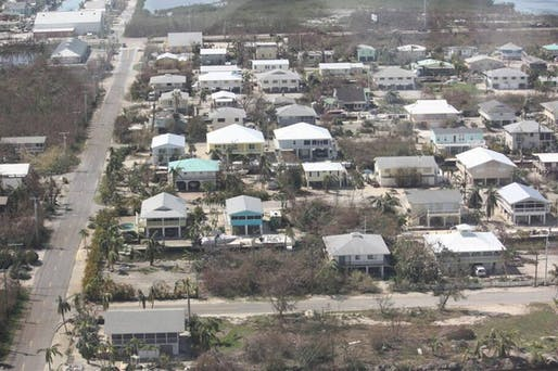 An aerial view of the Port Pine Heights neighborhood on Big Pine Key, which was damaged during Hurricane Irma. Courtesy Anthony Cheston