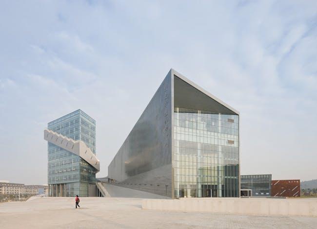 The Nanjing Performing Arts Center in China by Preston Scott Cohen. Credit: Preston Scott Cohen, Inc.