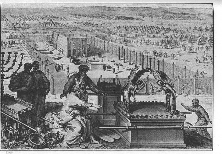 'The Erection of the Tabernacle and Sacred Vessels' by Gerard Hoet (1728)