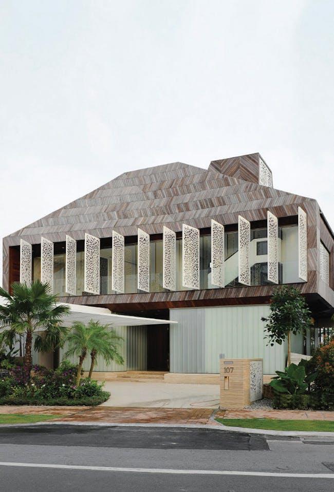 Stereoscopic House, Singapore, 2007–12. Photo: Daniel Sherif