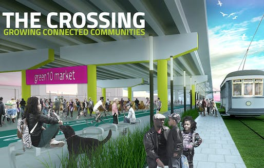 'The Crossing' by the University of Maryland. Image courtesy of 2015 ULI/Hines competition