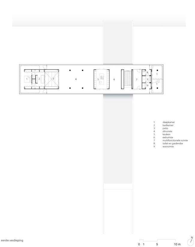 Floor plan, first floor. Image courtesy of Paul de Ruiter Architects