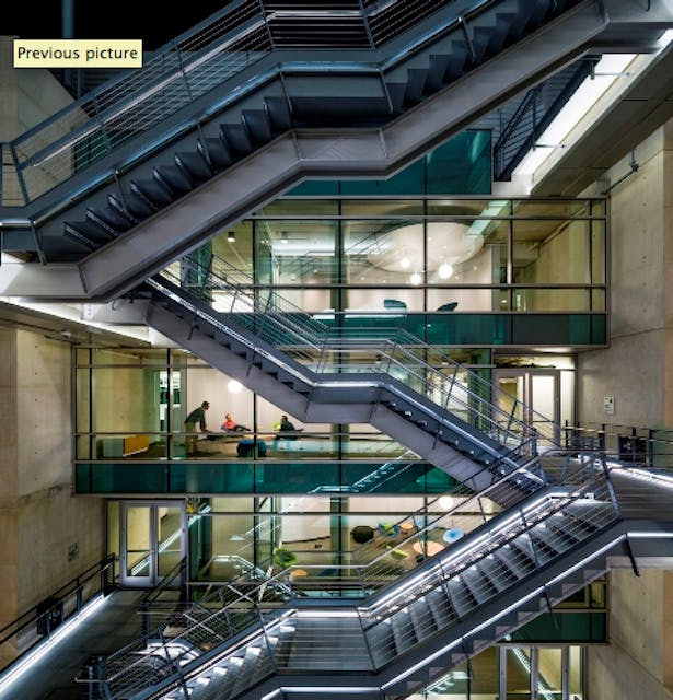 Photograph of completed stair.