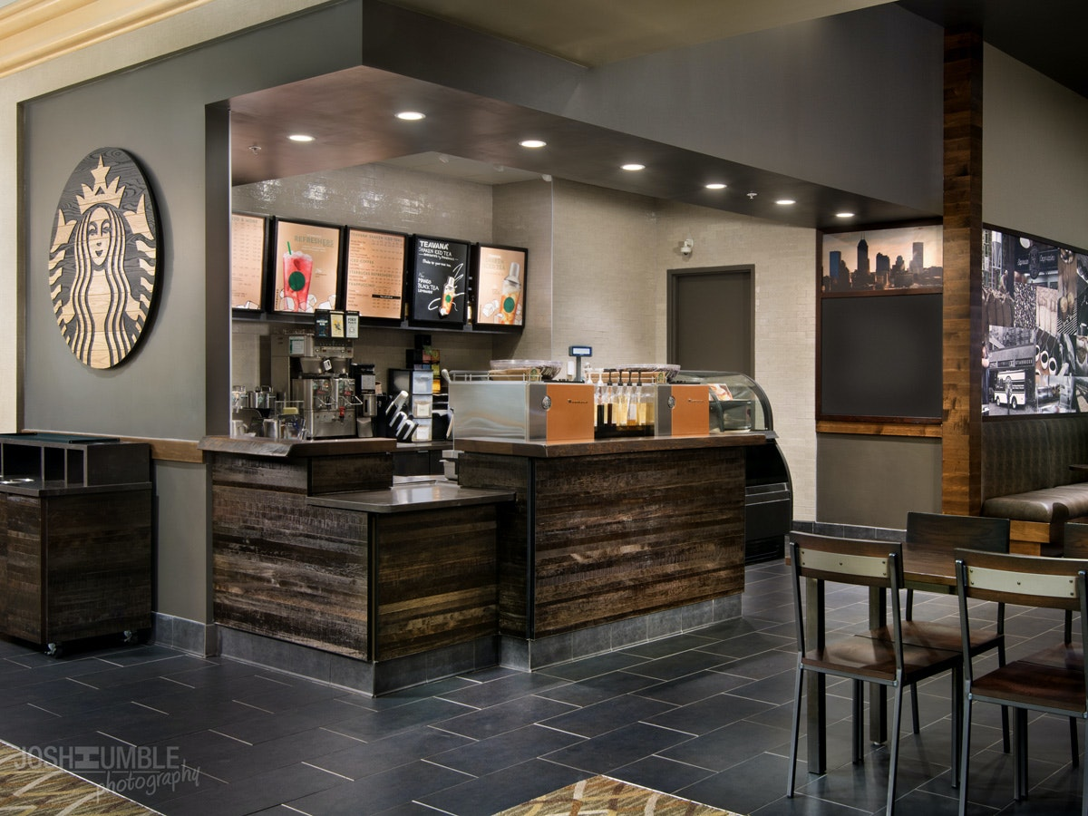 Starbucks In The Westin Indianapolis, Interior Photography ©Josh Humble