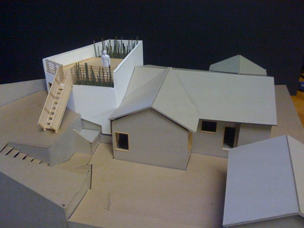 Robertson House addition_physical modeling