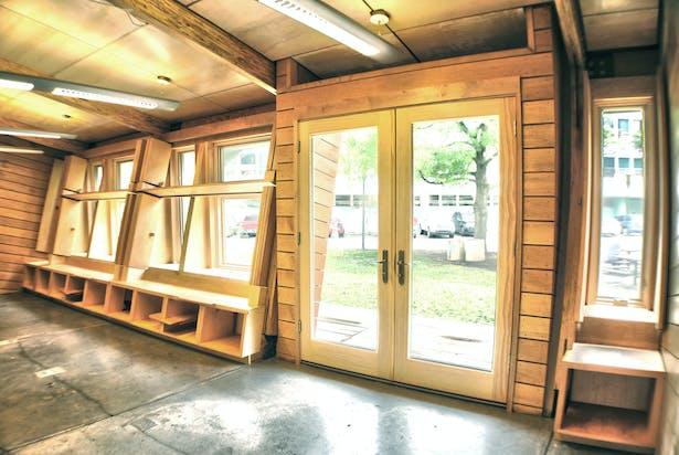 Interior with custom built millwork