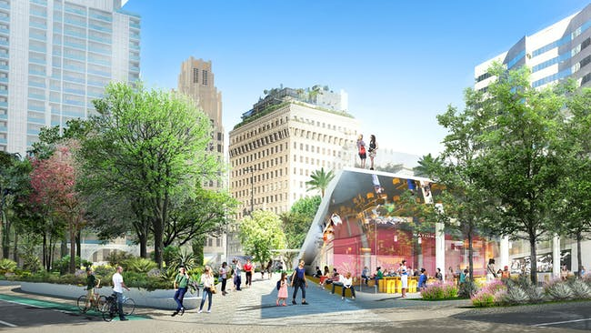 Pershing Square Renew finalist proposal: James Corner Field Operations with Frederick Fisher & Partners.