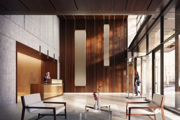 The Oakman, lobby. Photo courtesy of Fogarty Finger Architecture.