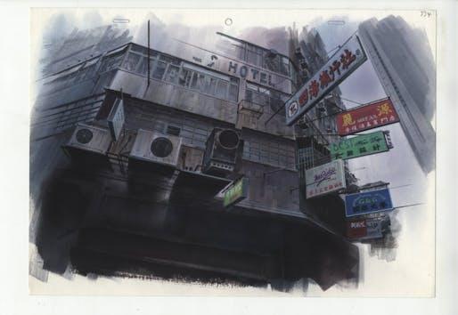 Image: Background illustration for Ghost in the Shell, Hiromasa Ogura © 1995 Shirow Masamune / KODANSHA · BANDAI VISUAL · MANGA ENTERTAINMENT Ltd