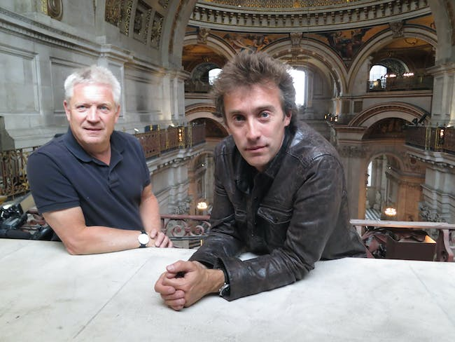 Steve Burrows and Dallas Campbell at St. Paul's Cathedral, London. Courtesy of Oliver Graham/Atlantic Productions