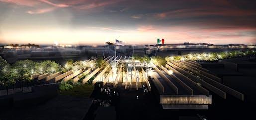 1ST PLACE: The Tree Wall by Stefano Bastia, Eurind Caka, Giovanni Sana and Nicola Magri, from Bologna (Italy)