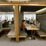 Square's 'cabana' suite in its San Francisco office, designed by O+A, image via SFGate.