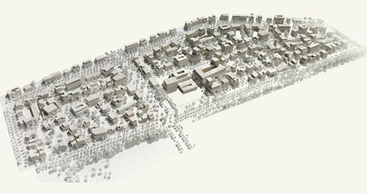 Model of West 8's winning Freiham Nord proposal. © West 8 urban design & landscape architecture