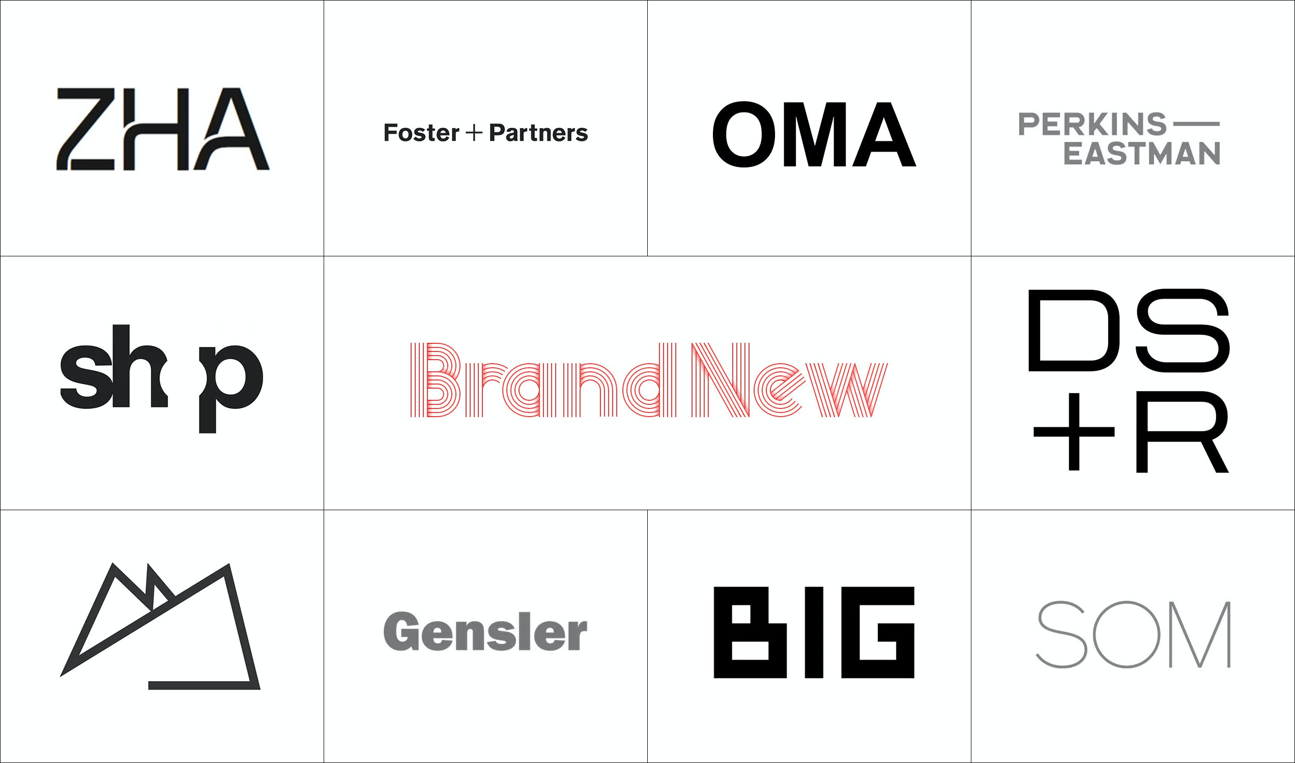 Brand New Reviews Logos Of The 10 Most Followed Firm Profiles On Archinect  Firm Profile Format