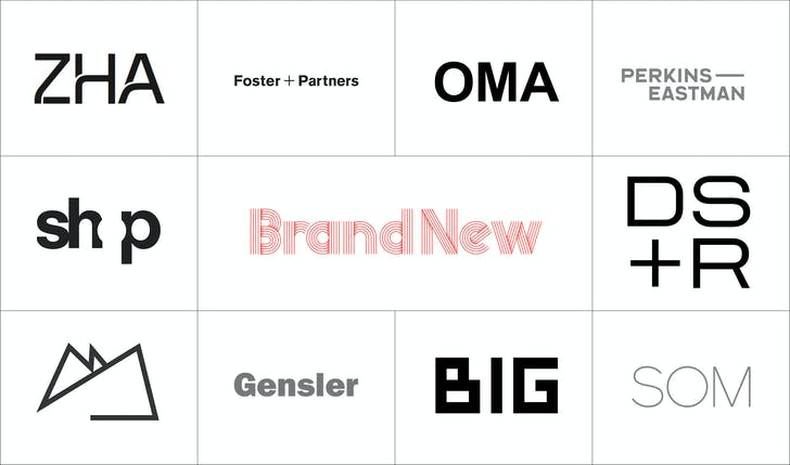 Brand New Reviews Logos Of The 10 Most-Followed Firm Profiles On Archinect  | Features | Archinect