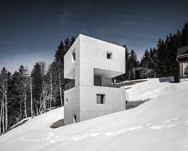 Mountain Cabin (Schutzhütte Laterns) by Marte.Marte Architects. Photo: Marc Lins Photography.