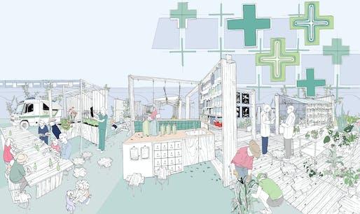 The Urban Physic Garden Vision. Illustration by Alison Moffett