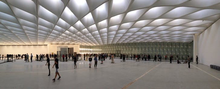 Inside the Broad on Sky-lit day. Photo by Amelia Taylor-Hochberg.