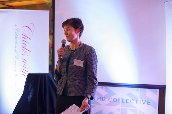Alison Nimmo CBE, Chief Executive of The Crown Estate, speaking at The Collective, January 2016.