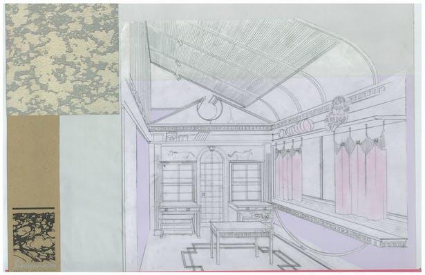 Twins' Studio   Interior Hand-Sketch