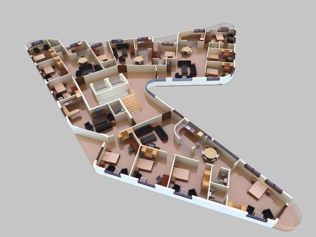 Apartment Interior Rendering_3 (Design credit- Shreejika Shrestha)