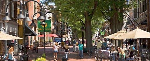Charlottesville's downtown mall. Image: University of Virginia