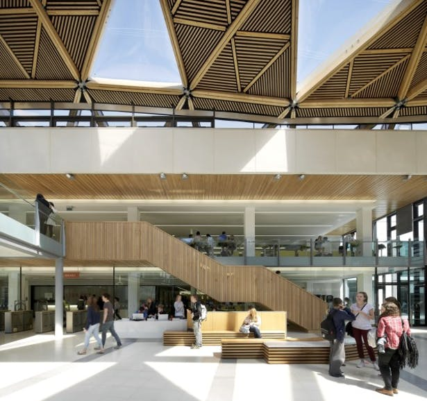 The Forum, University of Exeter - Interior view of the atrium space