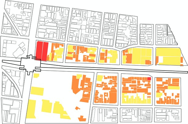 Site Analysis - Building Heirarchy of Floors