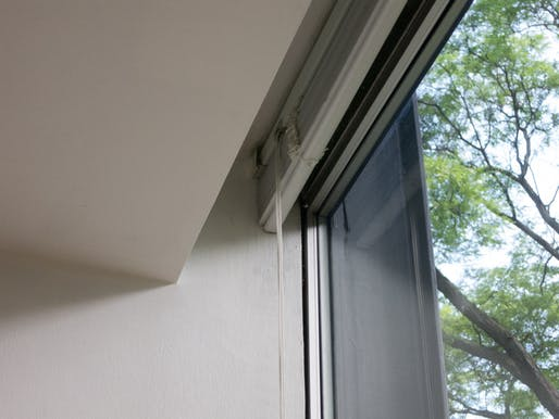 Soffit detail (with old blinds)