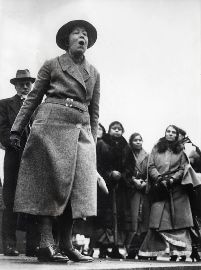 The suffragette Sylvia Pankhurst. Image via wikipedia.org