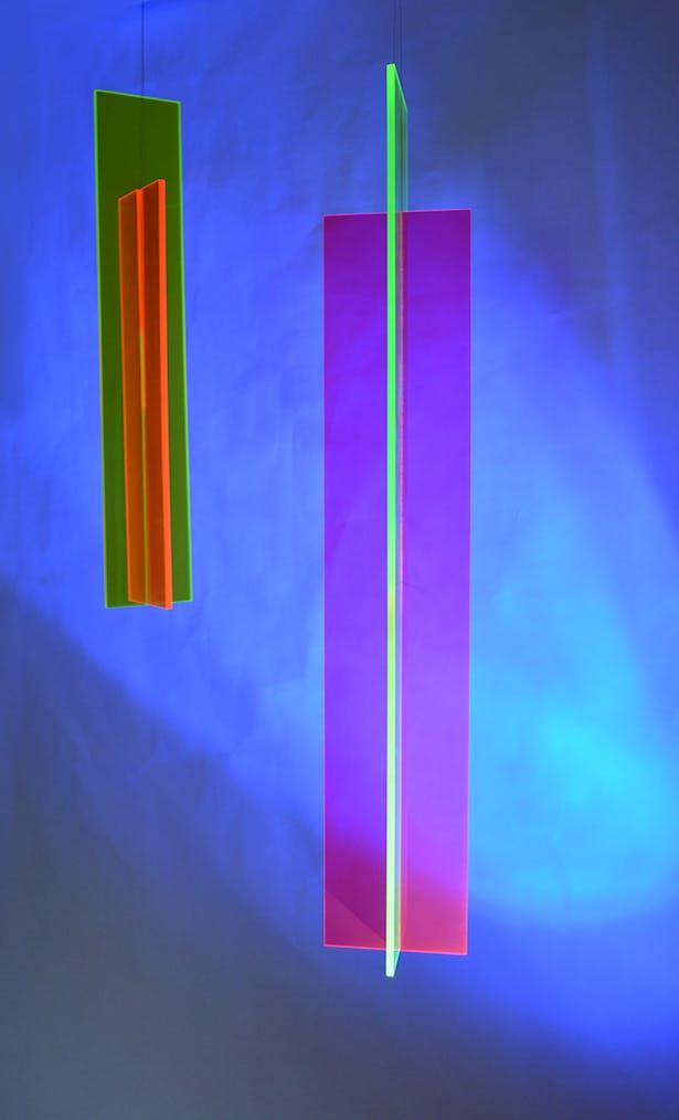 Vanishing Point suspended art lighting