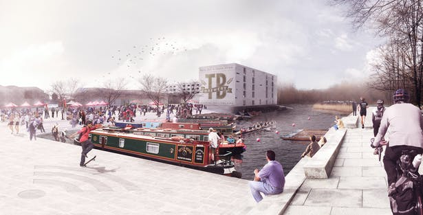 The inlet should be opened up and invite another type of development to the site, canal boats
