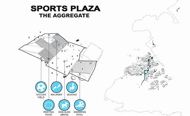 Diagram, Sports Plaza (Image: David Garcia Studio and Henning Larsen Architects)
