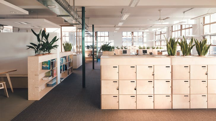 The Greenpeace office features Opendesk furniture, like this storage locker. Images courtesy Opendesk.