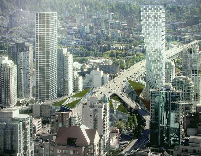the proposed Beach and Howe Tower in Vancouver by BIG