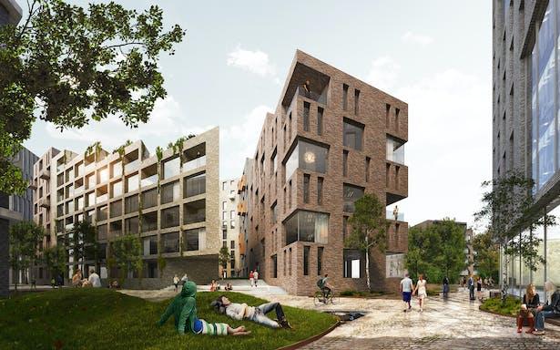 Housing Plaza_Hoffsveien Skoeyen Oslo Masterplan_schmidt hammer lassen architects